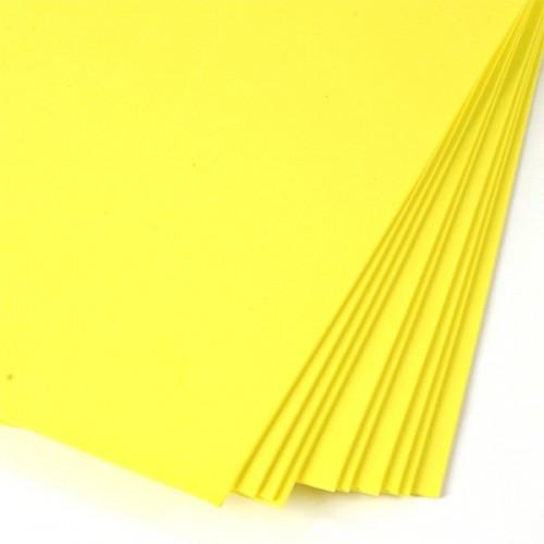 Фоамиран ярко-желтый 011 2 мм А4