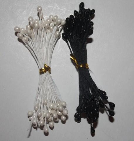 Тычинки черно-белые 10 штук