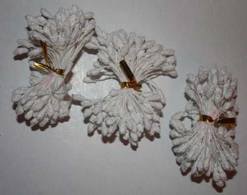 Тычинки белые 10 штук