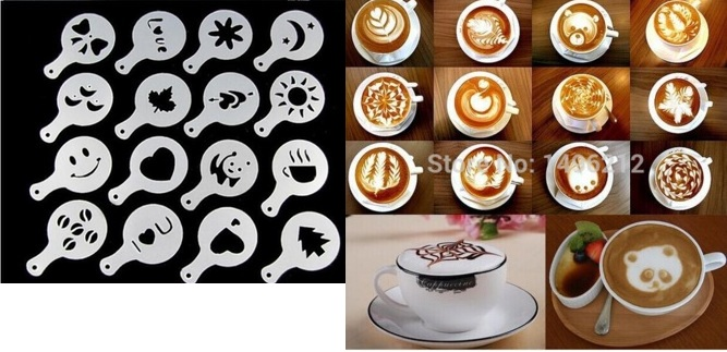 Трафарет для кофе в ассортименте
