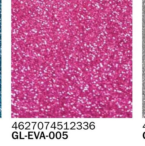 Фоамиран глиттер розовый 2 мм А4