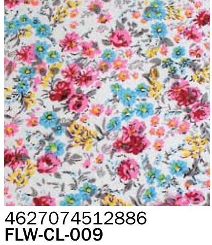 Фоамиран ткань розовые цветы 2 мм А4