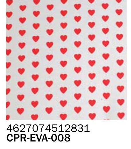 Фоамиран в сердечко 2 мм А4