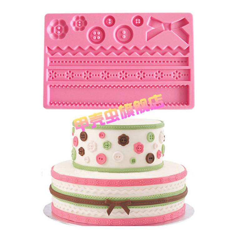 Набор форм для декора торта Пуговки