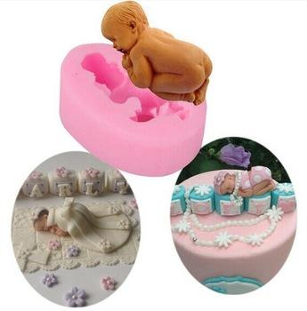 Форма силиконовая мини Малыш на торт