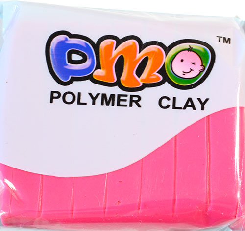 Полимерная глина люминистцент розовый 101