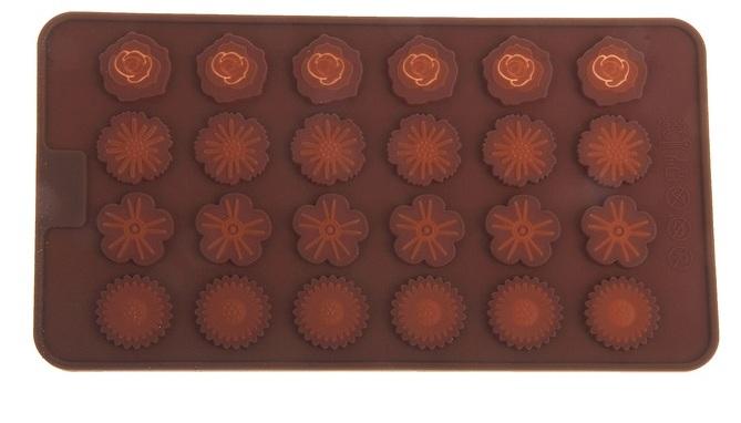 """Форма для шоко конфет """"Цветы"""" 24 ячейки"""