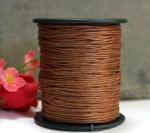 Шнур вощёный коричневый 1 метр