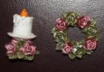 Набор формочек для пластики Свеча и розы