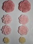 Набор формочек для пластики Розы и хризантемы