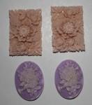 Набор формочек для пластики Камеи цветочные