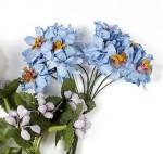 Цветочки тычинки голубые 3 штуки