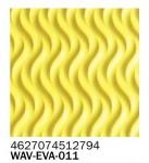 Фоамиран текстурный волна лимон 2 мм А4