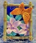 Форма силиконовая Бабочка на цветке в наличии