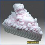 Форма силиконовая Малыш на тортике в наличии