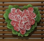 Форма силиконовая Сердце из роз с листьями