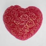 Форма пластиковая Cердце из роз