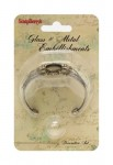 Набор браслет ИЗЯЩНЫЙ со стеклянным украшением 20мм