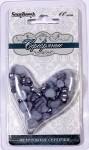 Сердечки жемчужные СЕРЕБРЯНЫЕ 6 мм и 8 мм, 60 шт