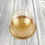 Коробка Купол прозрачный, золотое дно, 100 шт