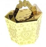 Коробка для мыла сундучок золотой 042