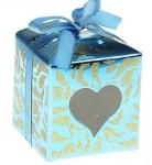 Коробка для мыла кубик синий 020