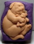 """Заготовка для формы """"Собака на подушке"""""""