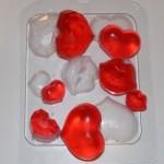 Форма пластиковая Сердечки и поцелуйчики набор