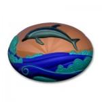 """Форма пластиковая """"Дельфин на волне овал"""""""