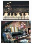 """Декупажная карта """"Старый рояль"""""""
